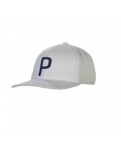 Puma Throwback P Snapback Cap - Quarry/Peacoat