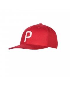 Puma Throwback P Snapback Cap - Red/White