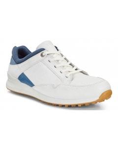 Ecco Womens Street Retro Shoe - White/Navy