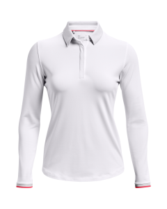 Under Armour Womens Zinger LS Polo - White