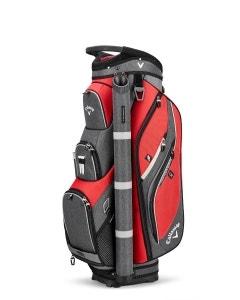 Callaway Forrester 2.0 Cart Bag 19 - Red/Titanium/Silver