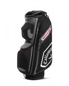 Callaway Chev 14+ Cart Bag - Black/White/Charcoal