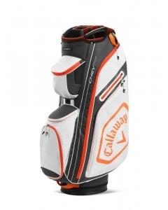 Callaway Chev 14+ Cart Bag - White/Charcoal/Orange