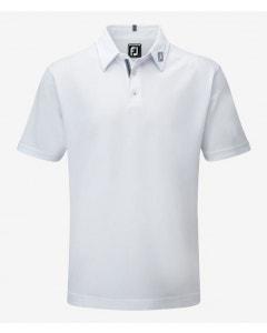 FootJoy Mens Ribbon Trim Pique Polo - White
