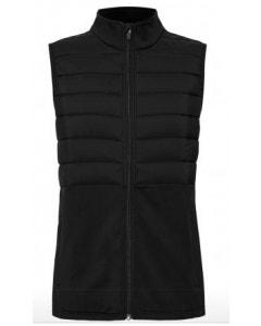 Sporte Leisure Womens 1/2 Puff Vest - Black
