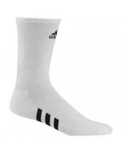 Adidas Mens 3-Pack Crew Socks - White