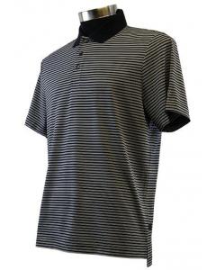 Calvin Klein Mens Mini Stripe Polo - Black