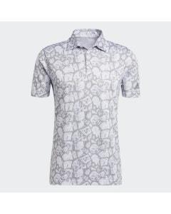 Adidas Cobblestone Print Polo - Violet Tone/White/Grey