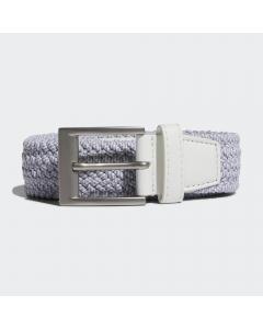 Adidas Braided Stretch Belt - White/Grey