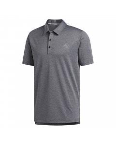 Adidas Advantage Novelty Heathered Polo - Black/Grey
