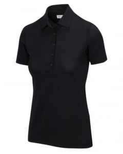 Greg Norman Womens Freedom Micro Pique Polo - Black