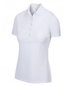 Greg Norman Womens Freedom Micro Pique Polo - White