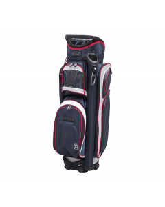 Fortress Tower Cart Bag - Navy/White/Red