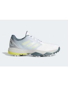 Adidas Junior ZG 21 Golf Shoes - White/Yellow/Blue