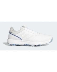 Adidas S2G Golf Shoes - White/Grey/Blue