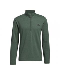 Adidas Mens 3-Stripe 1/4 Zip Sweater - Green Oxide