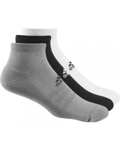 Adidas Men's Ankle Sock 3pk - White/Grey/Black