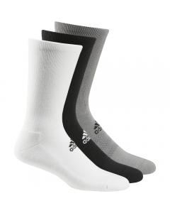 Adidas Men's Crew Sock 3pk - White/Grey/Black
