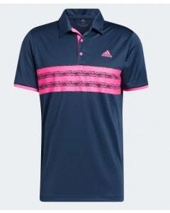 Adidas Mens Core Polo - Navy/Pink