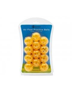 Golf Craft Air Flow Practice Balls 12pk - Orange