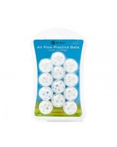 Golf Craft Air Flow Practice Balls 12pk - White