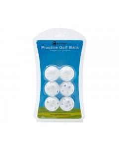 Golf Craft Practice Golf Balls 6pk - White