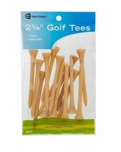 """Golf Craft 2 3/4"""" Wooden Golf Tees - 15 Pack"""