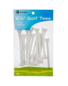 """Golf Craft 2 3/4"""" Wooden Golf Tees 15 Pack"""