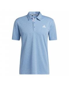 Adidas Advantage Novelty Heathered Polo - Focus Blue