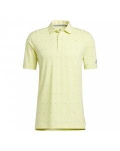 Adidas Allover Print Polo - Pulse Yellow/Focus Blue