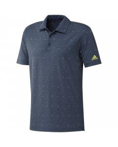 Adidas Allover Print Polo - Navy/Pulse Yellow