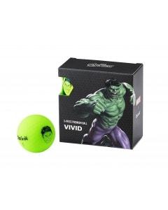 Volvik Vivid Marvel 4pk Hulk Golf Balls - Green