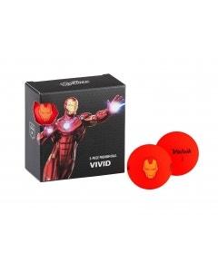 Volvik Vivid Marvel 4pk Iron Man Golf Balls - Red