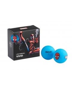 Volvik Vivid Marvel 4pk Spiderman Golf Balls - Blue