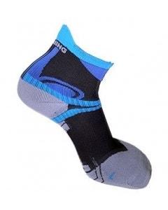 Spring Unisex Performance Long Sock - Blue/Black/Grey