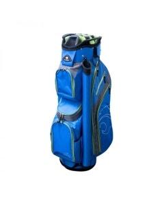 Cougar Powercat Plus III Cart Bag - Blue/Grey/Green