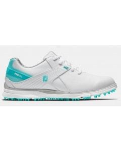 FootJoy Womens Pro SL Shoe - White/Aqua