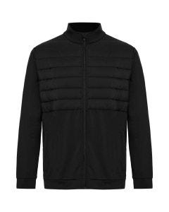 Sporte Leisure Mens 1/2 Puff Jacket - Black