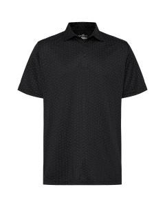 Sporte Leisure Mens Diamond Print Polo - Black