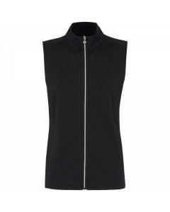 Sporte Leisure Womens Warm Zip Front Vest - Black