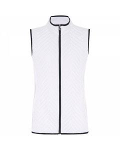 Sporte Leisure Womens Warm Embossed Vest - White