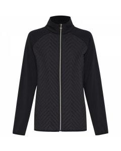 Sporte Leisure Womens Warm Zip Front Jacket - Black
