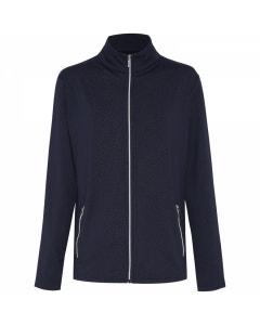 Sporte Leisure Womens Warm Debossed Zip Jacket - French Navy