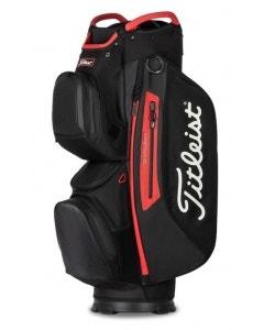 Titleist StaDry 15 Cart Bag - Black/Red