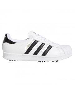 *Adidas Superstar Golf Shoes - White/Black/Gold