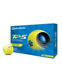 TaylorMade 2021 TP5 Yellow Golf Balls - 12pk