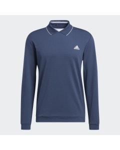 Adidas Long-Sleeve Thermal Polo - Navy