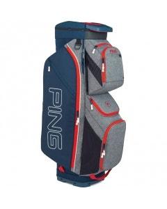 Ping 191 Traverse Cart Bag - Grey/Navy/Scarlet