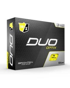 Wilson Staff Duo Optix Yellow Golf Balls