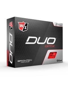 Wilson Staff Duo Optix Red Golf Balls
